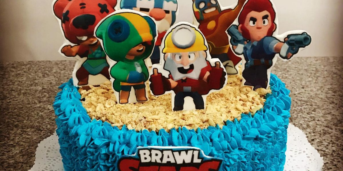 torta 2d crema brawl stars